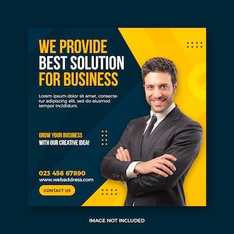 Promocja Biznesu I Szablon Banera Korporacyjnego Mediów Społecznościowych Premium Psd