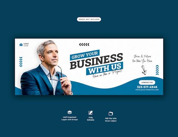 Promocja biznesu i szablon okładki na facebooku korporacyjnym
