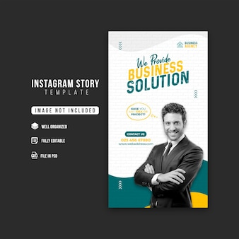 Promocja biznesu i szablon projektu historii firmy na instagramie