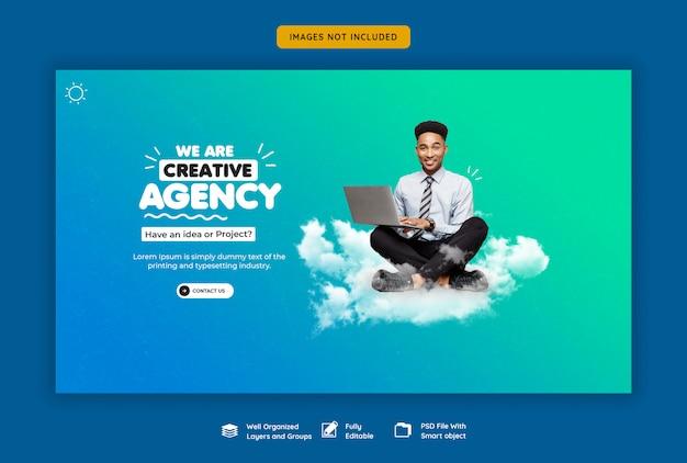 Promocja firmy i kreatywny szablon baneru internetowego