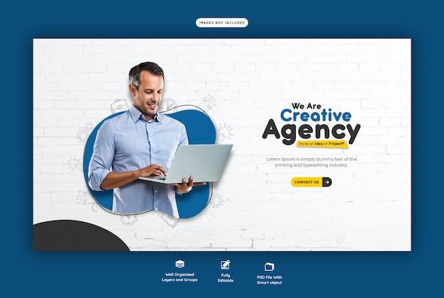 Promocja firmy i szablon banner firmy sieci web