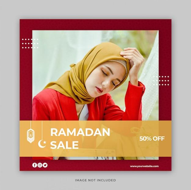 Promocja sprzedaży ramadan dla szablonu baneru społecznościowego instagram post banner
