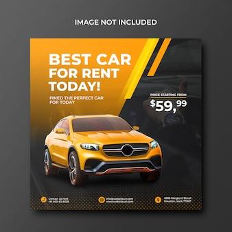 Promocja sprzedaży samochodów w mediach społecznościowych szablon postu na instagramie psd