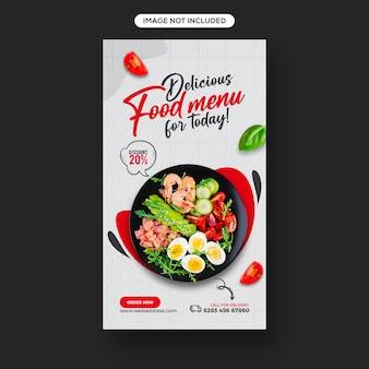Promocja świeżej I Zdrowej żywności W Mediach Społecznościowych I Projekt Szablonu Baneru Na Instagram Premium Psd