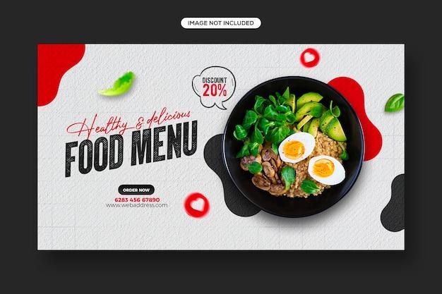 Promocja zdrowej żywności w mediach społecznościowych i projekt szablonu banera internetowego