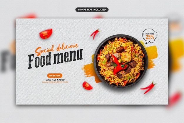 Promocja zdrowej żywności w mediach społecznościowych i szablon banera post na instagramgram