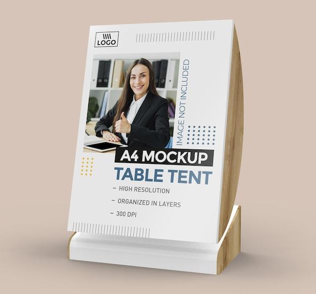 Promocyjna makieta namiotu stołowego do wyświetlania w formacie a4