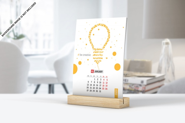Prosta makieta kalendarza biurkowego