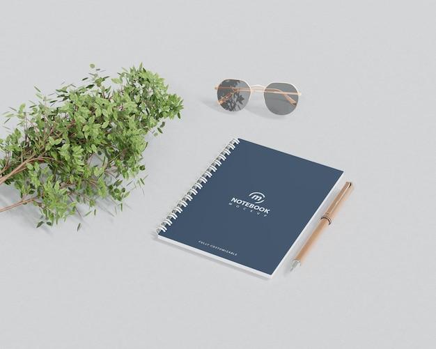 Prosta makieta notebooka z widokiem perspektywicznym