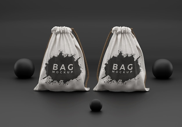 Prosta makieta torby