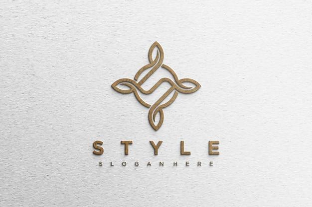 Prosta, nowoczesna makieta logo