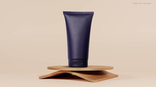 Proste abstrakcyjne podium z teksturą drewna