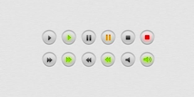 Proste i minimal odtwarzacz przyciski