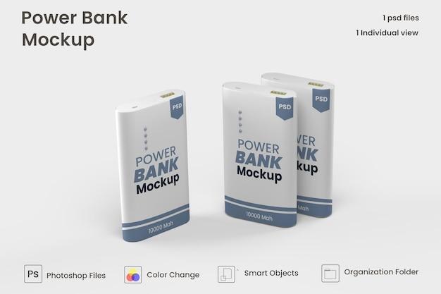 Prostokątna makieta powerbanku premium psd