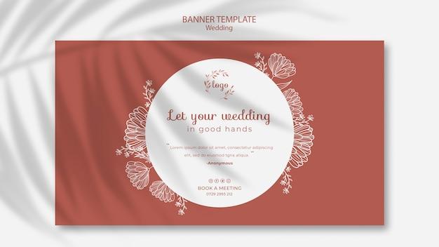 Prosty i elegancki szablon transparent na ślub