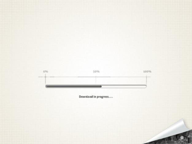 Prosty pasek postępu w procentach