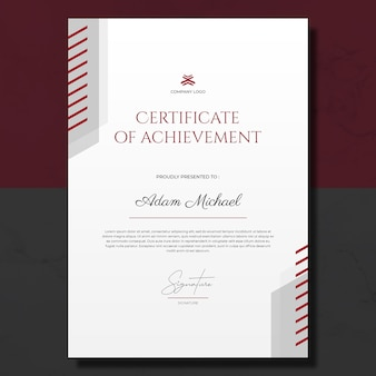 Prosty szablon certyfikatu osiągnięć