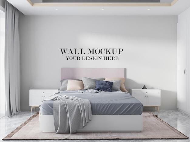 Prosty szablon ściany sypialni