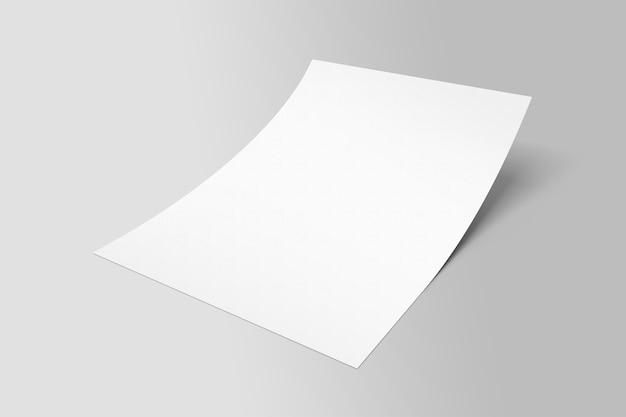 Prototyp plakatu z pojedynczą ulotką w formacie a4