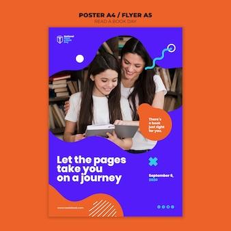 Przeczytaj styl plakatu na dzień książki