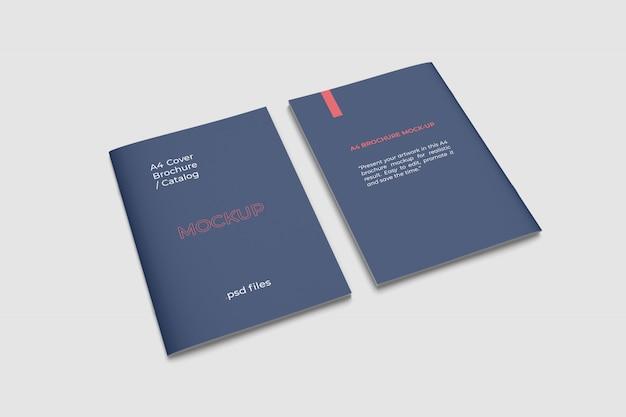 Przednia i tylna broszura a4 przedstawiają makietę z dużym kątem