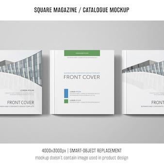 Przednia okładka magazyn kwadratowy lub makieta katalogu