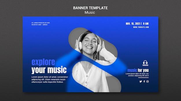 Przeglądaj szablon banera muzycznego