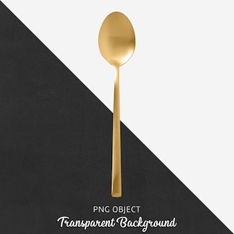 Przejrzysta złota łyżka