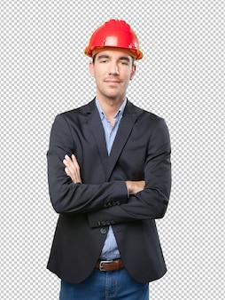 Przekonany młody architekt