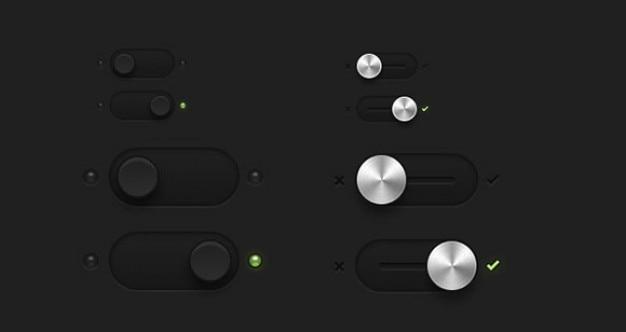 Przełączników i przełącza przyciski psd