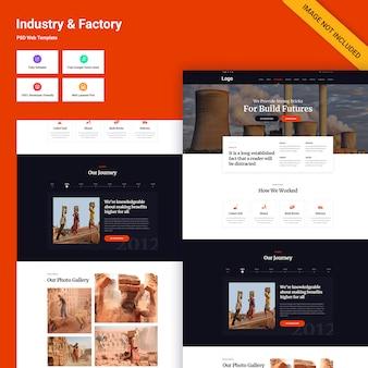 Przemysł i fabryka interfejs strony internetowej