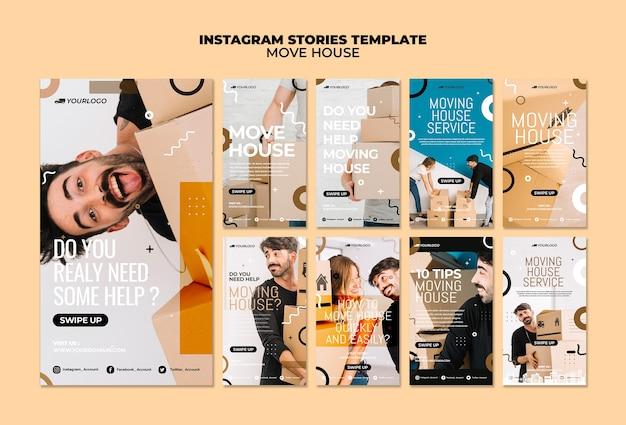 Przenieś historie na instagramie