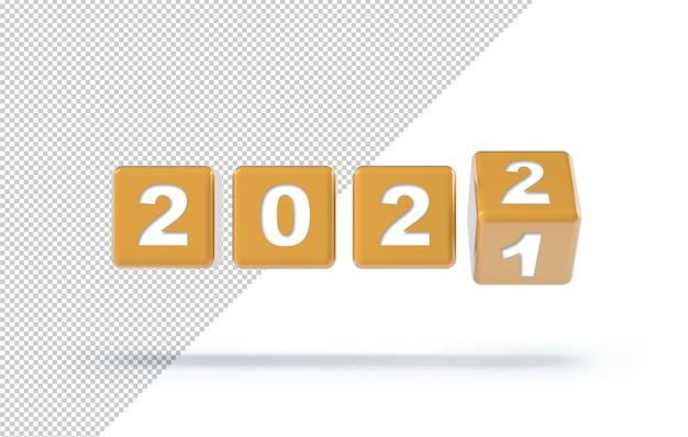 Przerzucanie kostek na zmianę nowego roku 2021 na 2022