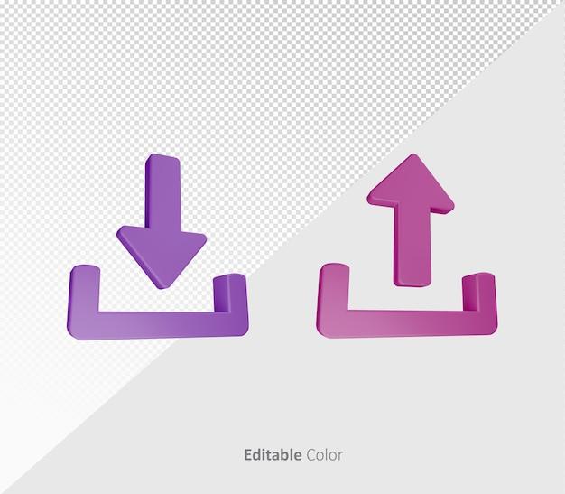 Prześlij 3d pobierz pakiet szablon psd z edytowalnym kolorem