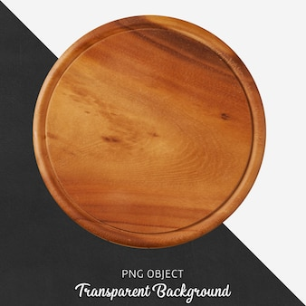 Przezroczysta okrągła deska do krojenia z drewna