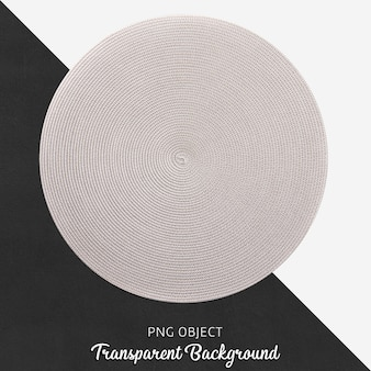 Przezroczysta wiklina i jasnoszary okrągły serwis