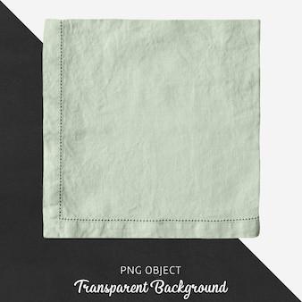 Przezroczysta, zielona, kwadratowa lniana chusteczka