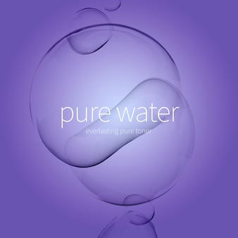 Przezroczyste kropelki wody