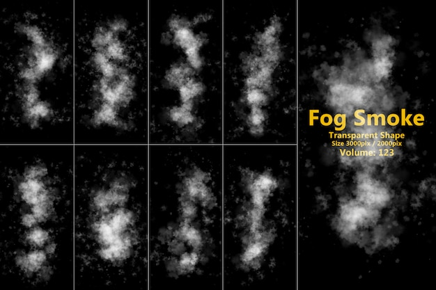 Przezroczysty kształt dymu mgły