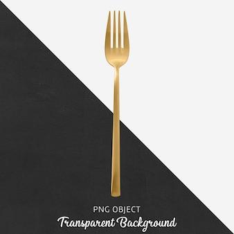 Przezroczysty złoty widelec obiadowy