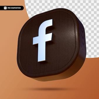 Przycisk aplikacji facebook 3d