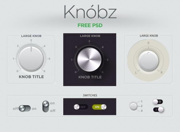 Przycisk audio gui interface kit gałka knobz suwak przełącznika ui ui kit