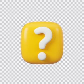 Przycisk znak zapytania na białym tle