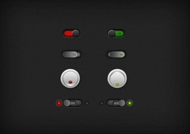 Przyciski nie ciemne przełączniki dźwigniowe ui tak