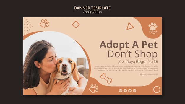 Przyjęcie szablonu baneru dla zwierząt domowych