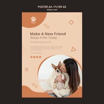 Przyjmij motyw szablonu plakatu zwierzaka