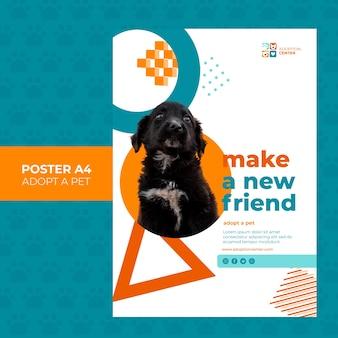 Przyjmij projekt plakatu dla zwierząt