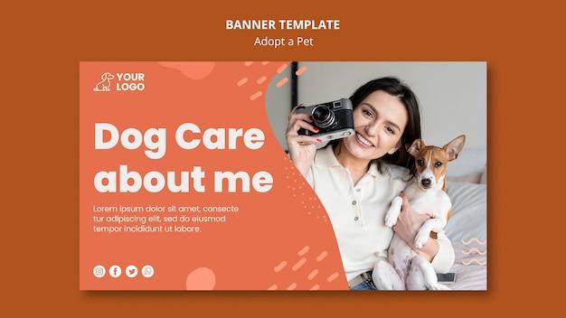 Przyjmij projekt szablonu banera dla zwierząt domowych