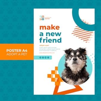 Przyjmij styl plakatu zwierzaka