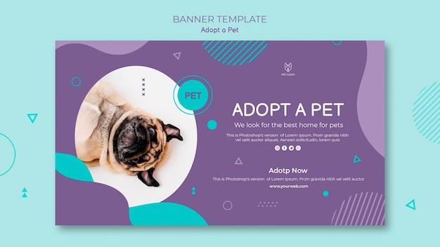 Przyjmij styl szablonu banera zwierzaka